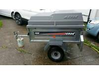 erde 122 galvanised trailer with abs cover
