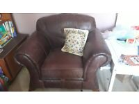 Free - Brown Leather Armchairs as pair or individual