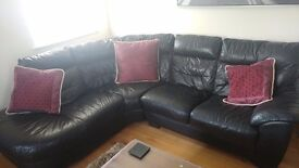 Black Leather DFS Corner couch was over £1,000 when bought