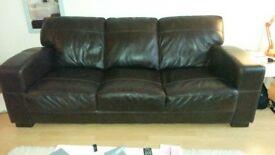 DFS 'Caesar' 3 seater sofa & storage footstool