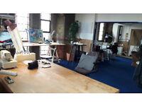 Large Deskspace - workspace - artist studio available