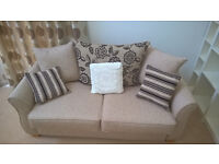 2 Seat Sofabed with quality memory foam mattress - in as new condition