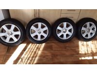 "vw alloys 5x112 16"" 215-55-16 (passat, golf 5, touran ,audi)"