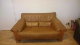 Brown Vintage Danish Style 2 Seater Sofa