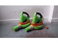 2 Leaf Blowers 2200W
