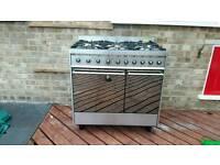 SMEG freestanding dual fuel cooker