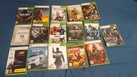 XBOX 360 GAMES, ALL UNMARKED AND IN EXCELLENT CONDITION