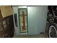 Husky small counter top fridge (budweiser)