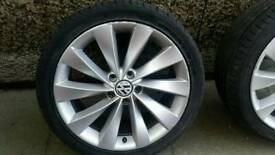"1 x SINGLE 18"" VW Scirocco Passat CC Alloy Interlagos Golf R32 R36"