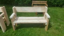 Handmade extra chunky bench