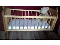 Mothercare Baby Crib with Extras