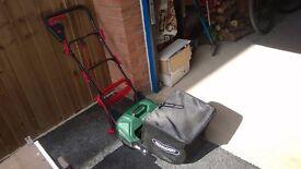 Qualcast cylinder lawnmower.