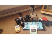 Canon eos 50d with lots of xtras lenses