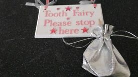 Tooth fairy plaque. Boys or girls.
