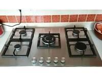 5 burner gas hob cooke & lewis