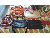 Selection of 6 TedBaker bags.