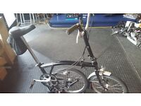 Brompton Folding Bike 3 speed Black **Free Delivery!!**