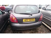 2004 NISSAN ALMERA, 1.5 PERTOL, BREAKING FOR PARTS ONLY, POSTAGE AVAILABLE NATIONWIDE
