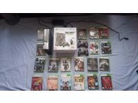 Xbox 360 (rare MW 3 edition) with 2 controllers & 19 games