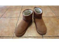 MEN'S TAN SIGNATURE LUXURY SUEDE SLIPPER BOOTS FROM NEXT