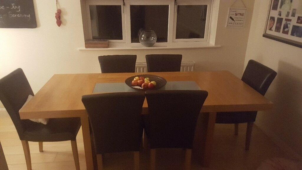 Solid Oak Table and 50 chairs. | in Wombwell, South Yorkshire | Gumtree