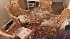 cane dinning room set