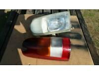 Nissan/ldv headlight and rear light