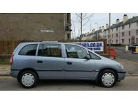2005/55 VAUXHALL ZAFIRA ......7 SEATS!!..... 1 YEARS MOT BARGAIN £1495