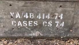 Vintage ammunition ammo cases wooden boxes barn find