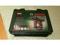 Bosch PSB 18 LI-2 Cordless Lithium-Ion Hammer Drill Driver with 1 x 18 V Battery, 1.5 Ah. Like New !