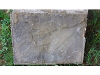 Paving slabs (used) - mixed sizes
