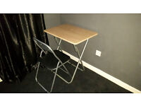 FOLDABLE FLAT PACK DESK AND CHAIR