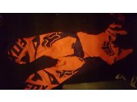 Fox motocross suit and boots