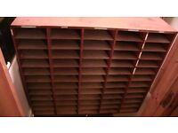 Free shelving unit for collection - 60 compartments to store A4 papers, journals, magazines, etc