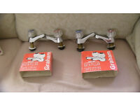 Two Matching Pairs of Bath and Basin Chrome Pillar Taps
