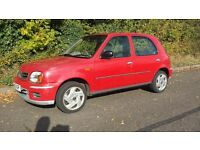 Nissan Micra 2002 Low Mileage 60k 5 door 10months MOT excellent condition for year