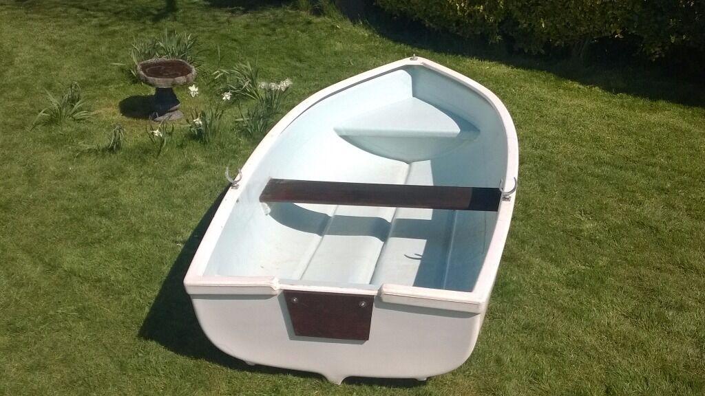 8 Ft Fiberglass Rowing Boat Dinghy Tender In Norwich