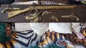 Very Nice Brass Rifle and other peices..