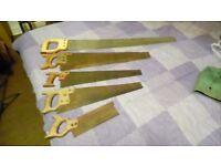 5 vintage woodworking saws