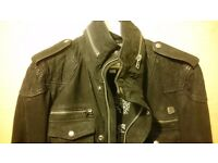 Rare Diesel jacket black suede leather M medium slim fit BNWT