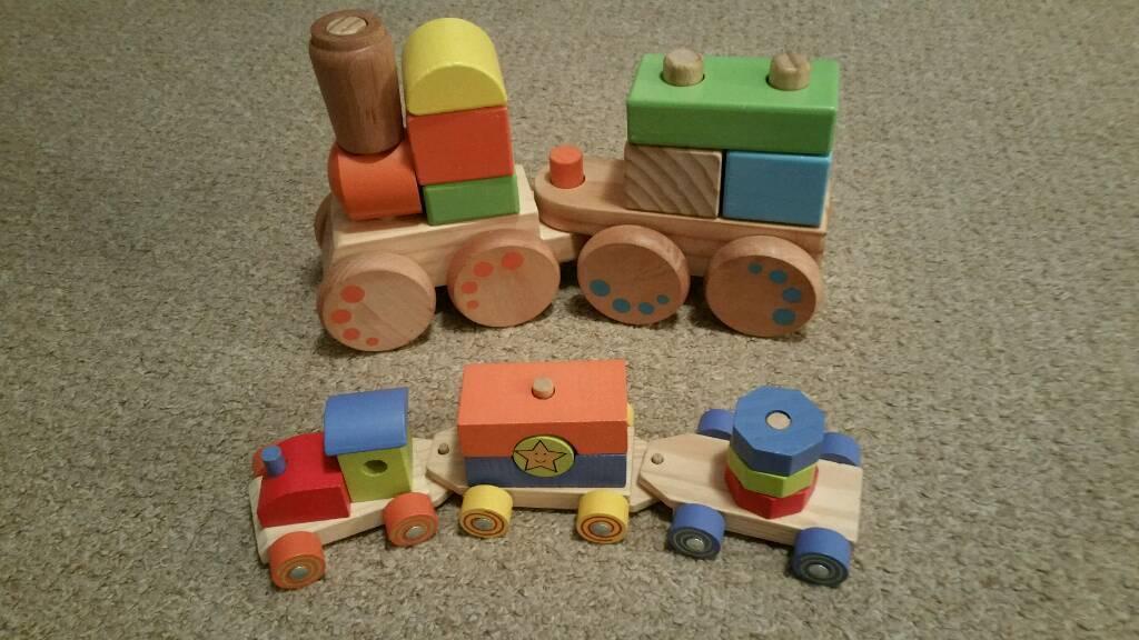 SOLD! Wooden blocks trains