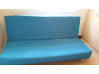 Three-seat IKEA sofa bed - BEDDINGE LÖVÅS Knisa turquoise