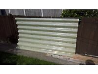 free heavy duty corrugated plastic roofing sheet 200 x 110 cms