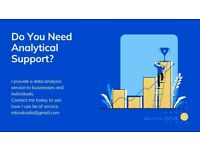 Do you need help to analyse data or create reports in Excel? I have analytical skills