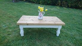 Farmhouse Plank Top Coffee Table