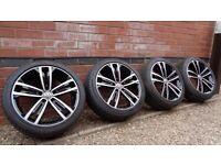 "Genuine Volkswagen Sevilla 18"" Alloy Wheels 5x112 VW Golf GTI GTD Caddy"