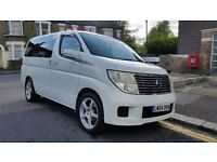 NISSAN ELGRAND 2.4 AUTOMATIC PETROL LUXURY 8 SEATER FAMILY MPV (IMPORT) AIRCON ALLOYS LEATHER TINTS