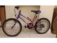 "Girls Pink 20"" Wheel Bike"