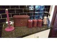 Purple kitchenware