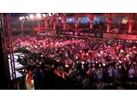 WORLD MATCHPLAY DARTS TICKETS TABLE SEATS SUNDAY NIGHT FIRST ROUND 4 GAMES IN TOTAL